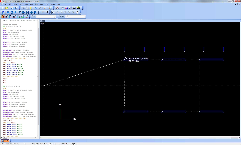 Simulare program în NCPlot